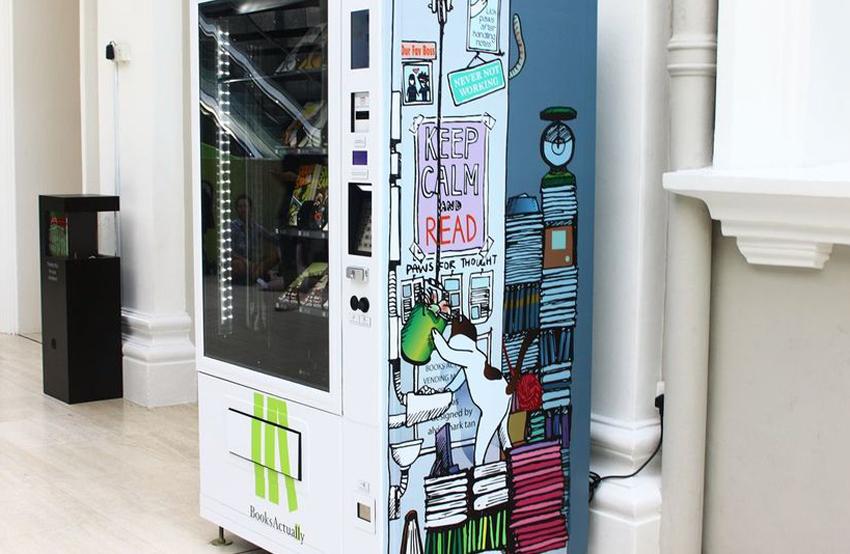 Singapore introduces book vending machines