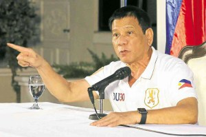 Duterte speaking
