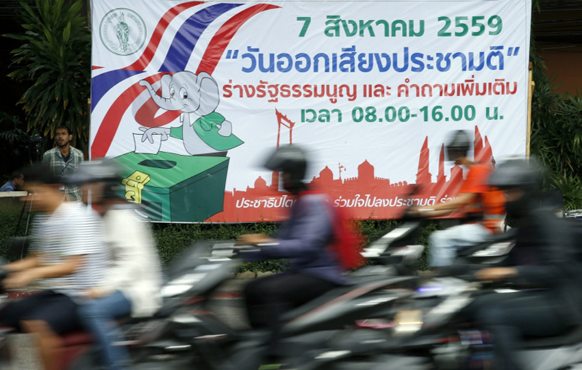 Ahead of crucial referendum, Thai junta promises elections in 2017