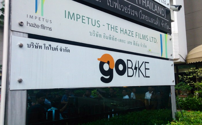 Bangkok motorbike taxi drivers protest ride hailing startups