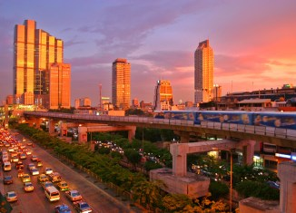 Bangkok Skytrain Sunset