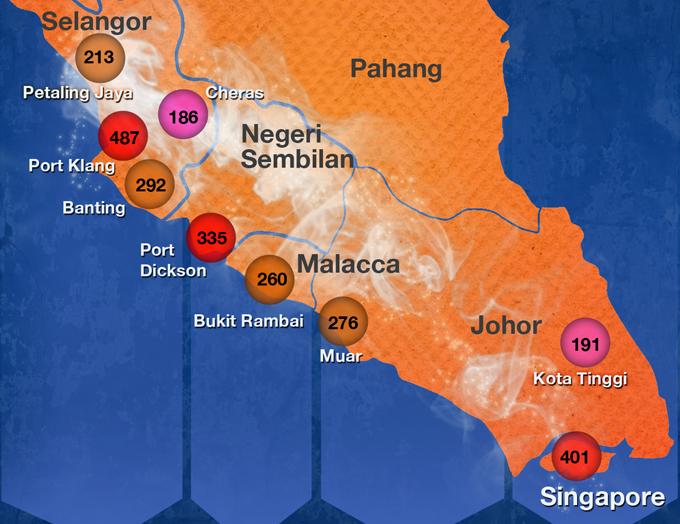 Air pollution disaster: The Blaze Haze Trail