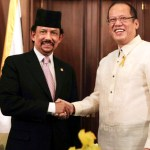 Brunei Sultan, Aquino promote stability