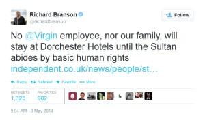 Branson tweet