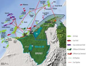 Brunei oil and gas fields