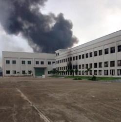 Burning factory