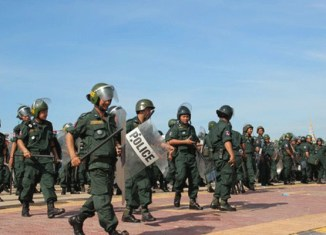 Workers beaten at May Day protests in Cambodia