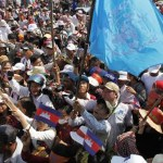 Thousands march on the streets in Cambodia