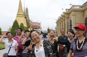 Chinese tourists in Bangkok