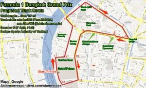 F1 route bangkok