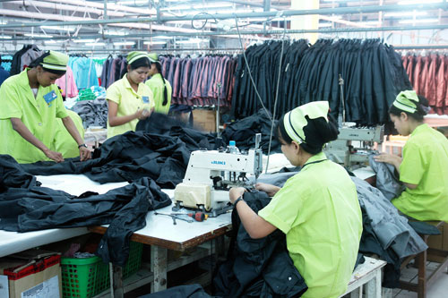 Most of the investments went into Myanmar's garment sector