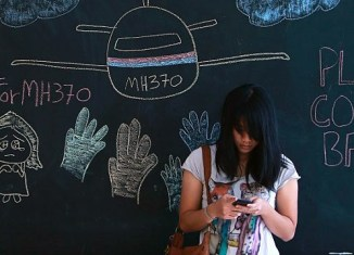 Social media frenzy around flight MH370 (graph)