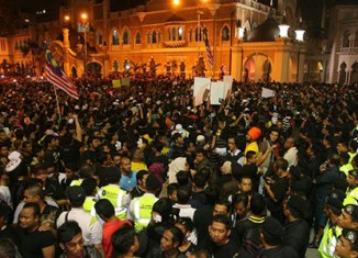 Thousands in New Year protests in Malaysia