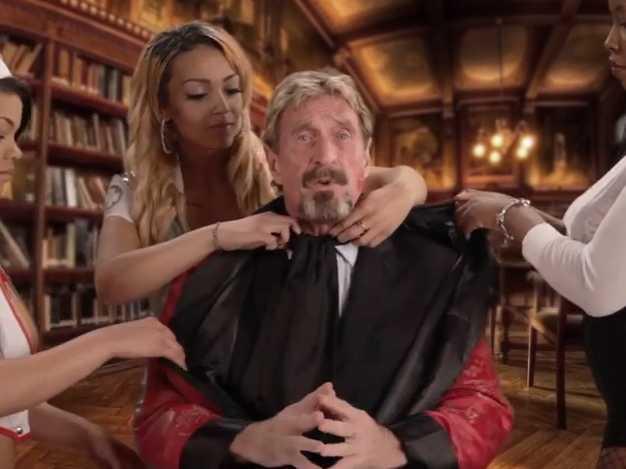 Eccentric Millionaire McAfee Returns in Bizarre Video Clip