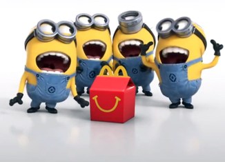 """Minion"" Happy Meal toy madness at McDonald's Singapore."