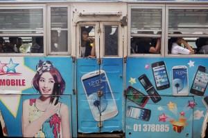 Myanmar gave telecommunication operator licenses to  Telenor and Ooredoo