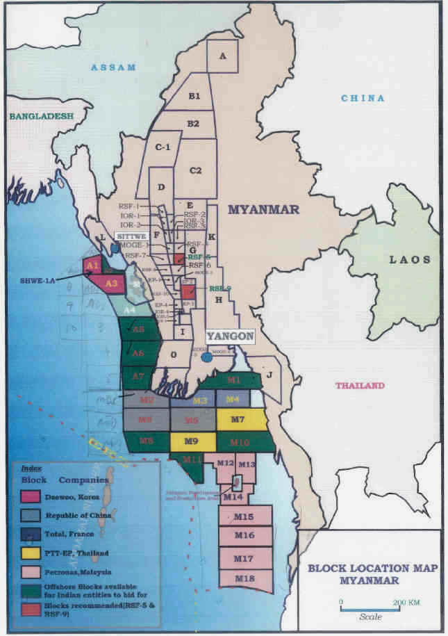 Oil And Gas Bids Open In Myanmar Investvine