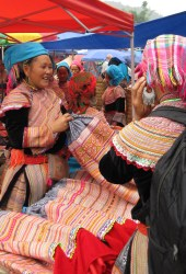 Market vendors in Bac Ha, northern Vietnam