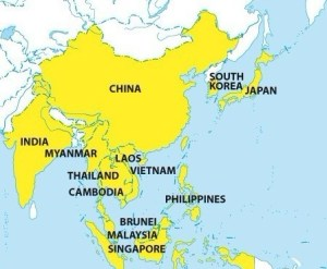 Member countries of a proposed RCEP pact