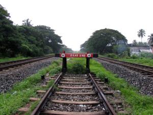 Railway dead end