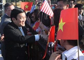 Vietnam's president meets Barack Obama