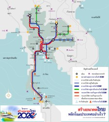 Thai infrastructure map