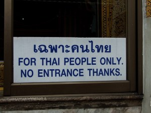 Thai people only
