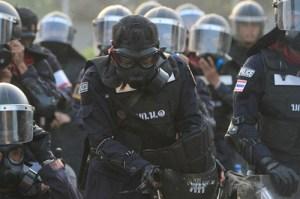Thai police fighting
