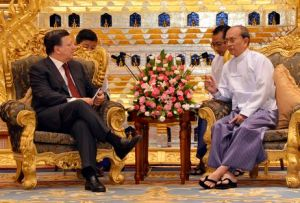 Thein Sein Manuel Barroso
