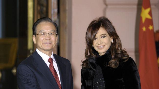 Wen Jiabao Cristina Fernandez