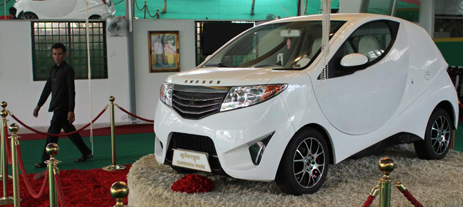 Cambodia's home-grown electric car still parked