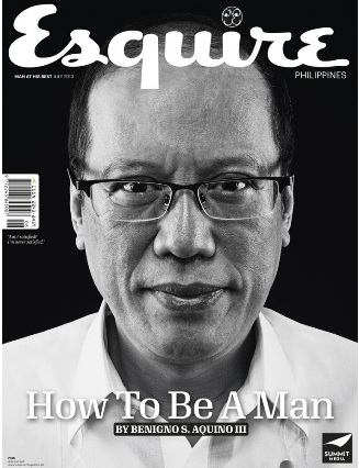 President Aquino an unlikely Esquire coverboy