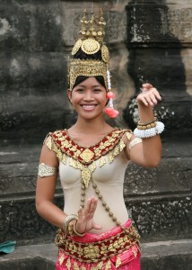 Cambodian Girl With Cultural Costume