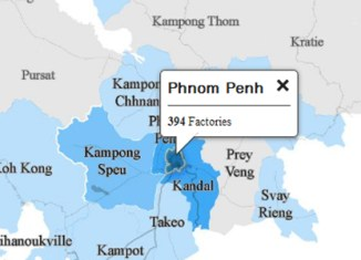 Detailled Cambodia garment factory map shows everything