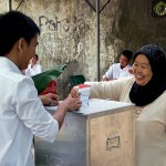 Indonesia polls close and count begins