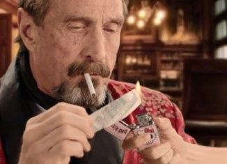 Eccentric Millionaire McAfee Returns in Bizarre Video Clip