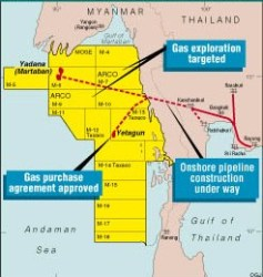 Myanmar oil and gas fields (click to enlarge)