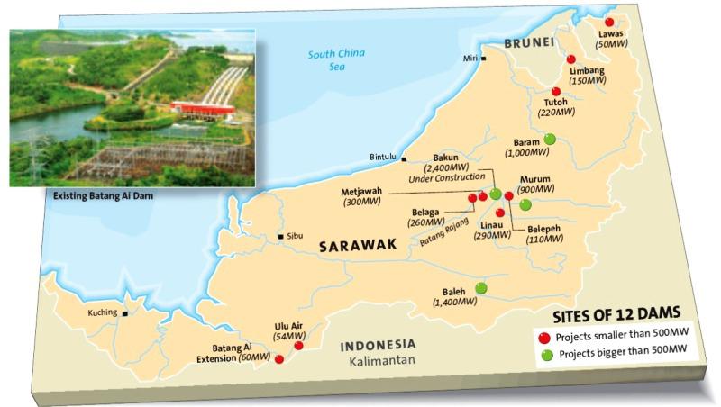 Sarawak hydropower seeks private funds