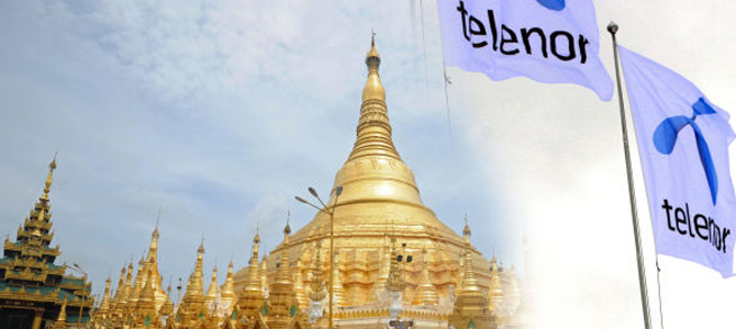 Telenor to launch mobile network in Myanmar by 2014