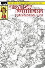 TRANSFORMERS REGENERATION ONE #100 SUB COVER