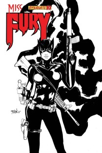 MISS FURY #10 TAN BLACK AND WHITE COVER