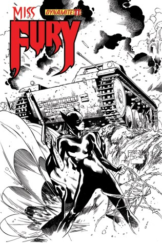 MISS FURY #11 TAN BLACK AND WHITE COVER