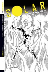 SOLAR MAN OF THE ATOM #2 BENNETT BLACK AND WHITE COVER