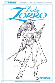 LADY ZORRO #1 LINSNER BLACK AND WHITE COVER
