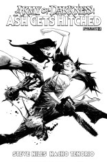 ARMY OF DARKNESS ASH GETS HITCHED #2 LEE BLACK AND WHITE COVER