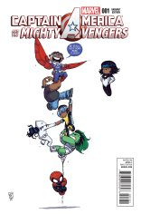 CAPTAIN AMERICA AND THE MIGHTY AVENGERS #1 VARIANT B