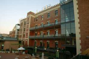 Back of the hotel facing the square