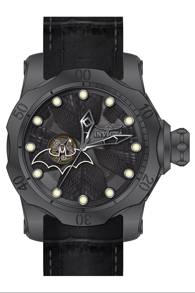 Invicta DC Comics Limited Edition Batman Mens Automatic 537 mm Titanium Case Black Dial  Model