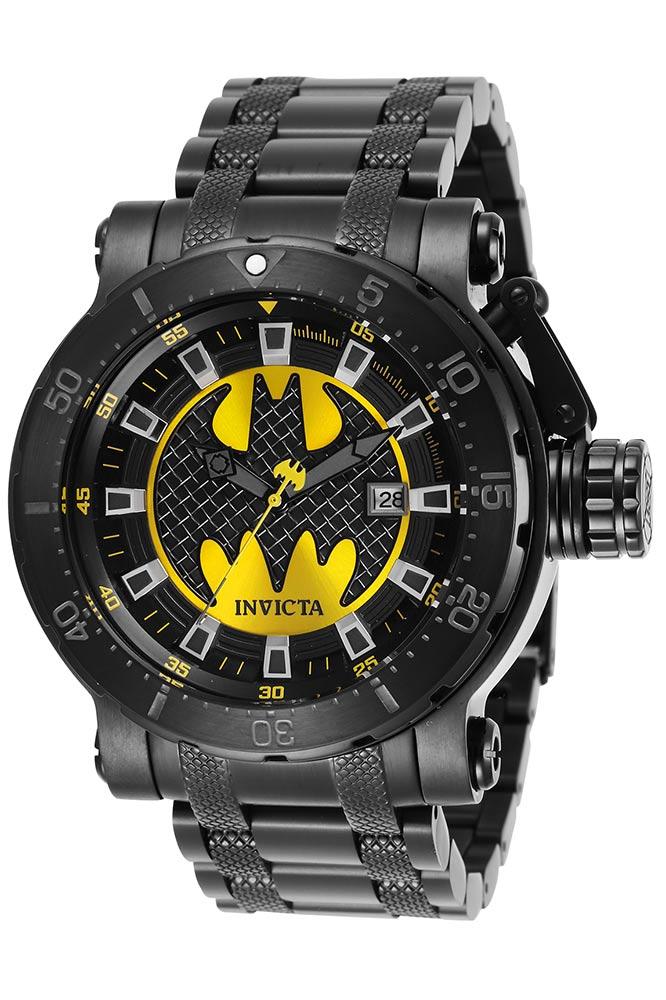 Invicta DC Comics Limited Edition Batman Mens Automatic 52 mm Black Case Yellow Dial  Model 29858