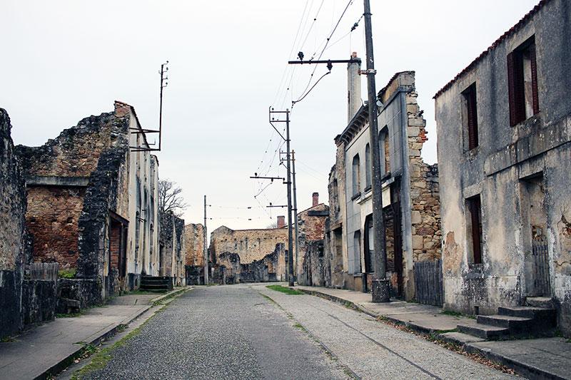 Oradour-sur-Glane calle principal